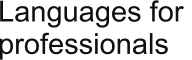 Languages for  professionals
